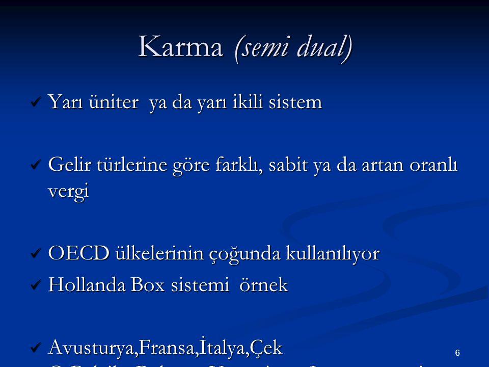Karma (semi dual) Yarı üniter ya da yarı ikili sistem