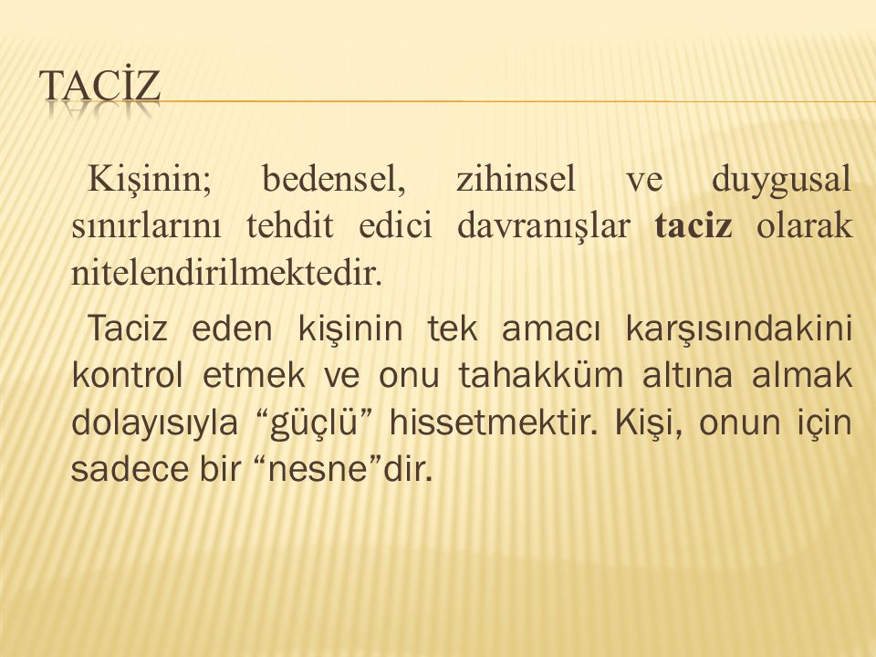 TACİZ