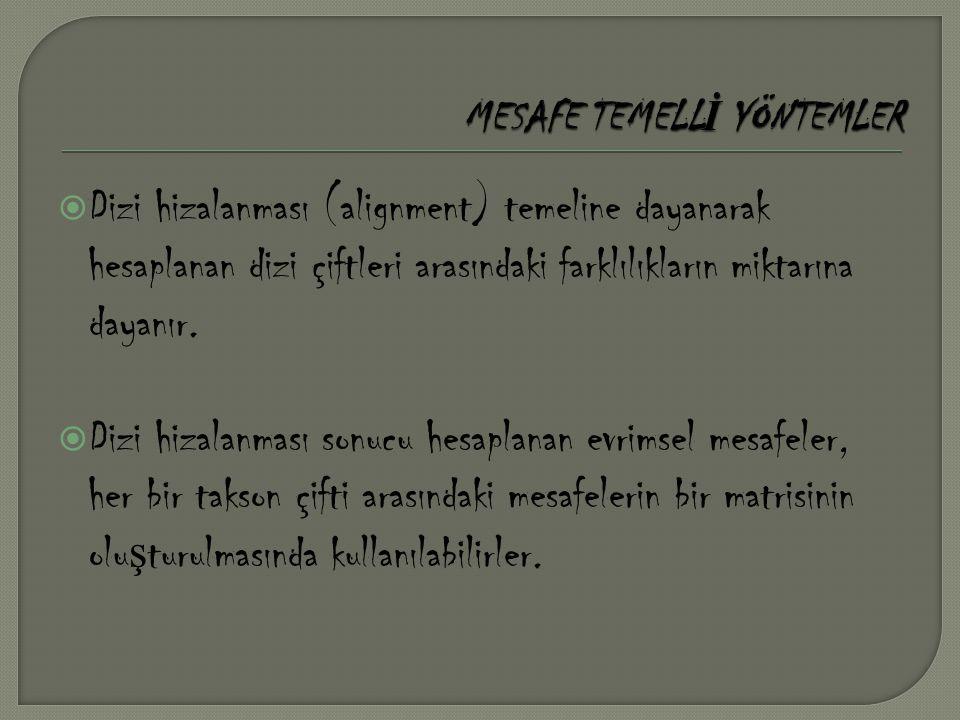MESAFE TEMELLİ YÖNTEMLER