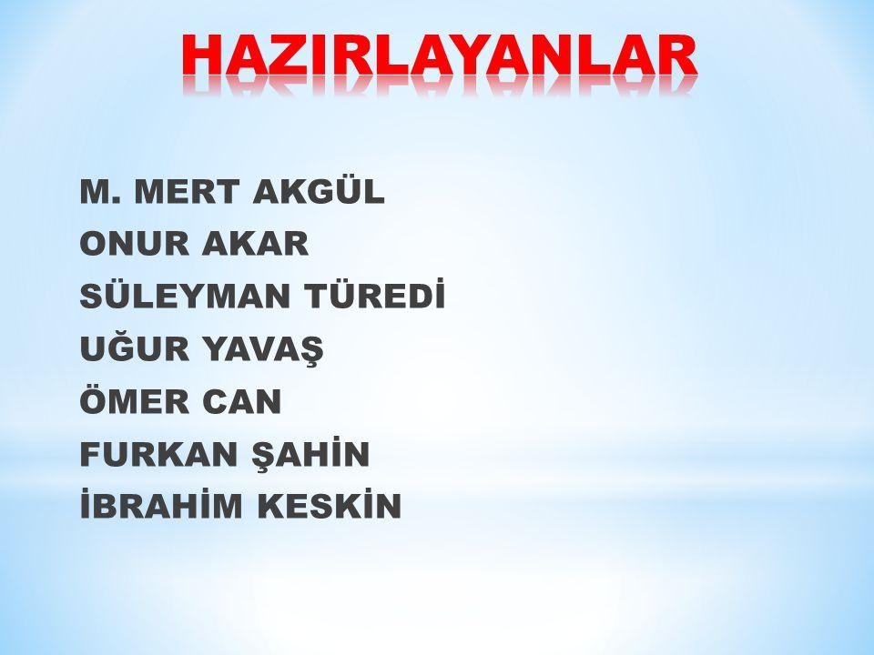 HAZIRLAYANLAR M.