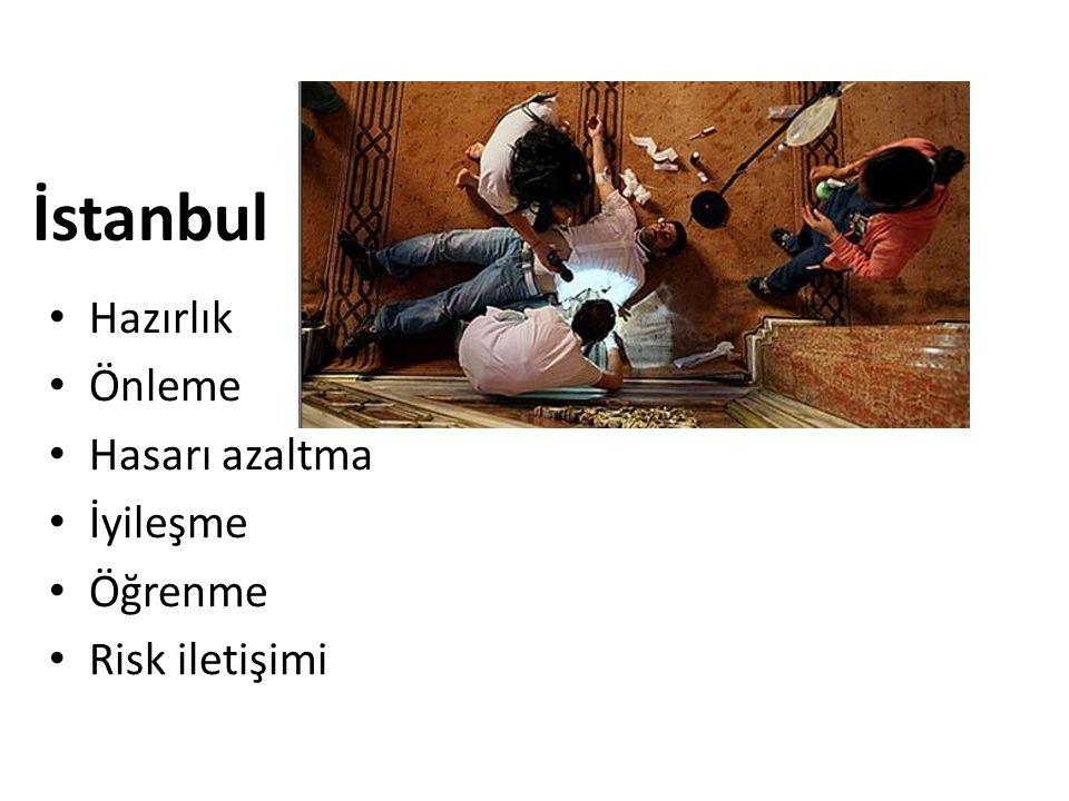 İstanbul Hazırlık Önleme Hasarı azaltma İyileşme Öğrenme