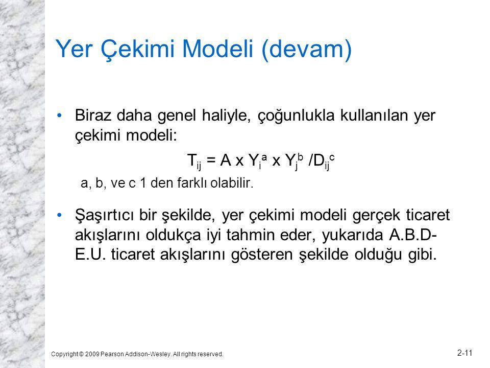 Yer Çekimi Modeli (devam)