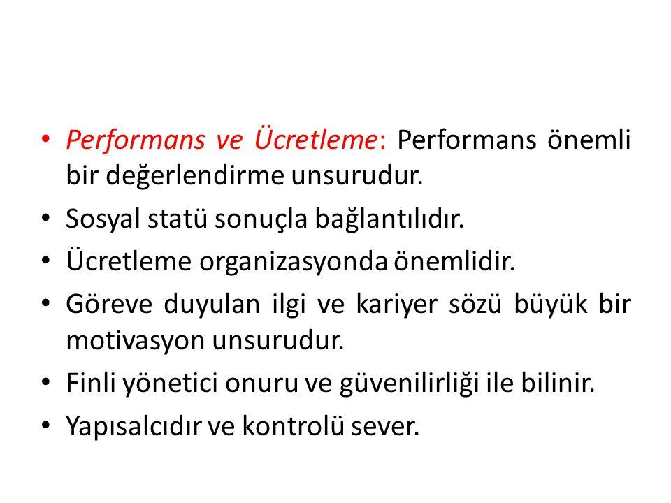 Performans ve Ücretleme: Performans önemli bir değerlendirme unsurudur.