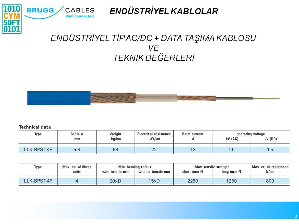 ENDÜSTRİYEL TİP AC/DC + DATA TAŞIMA KABLOSU