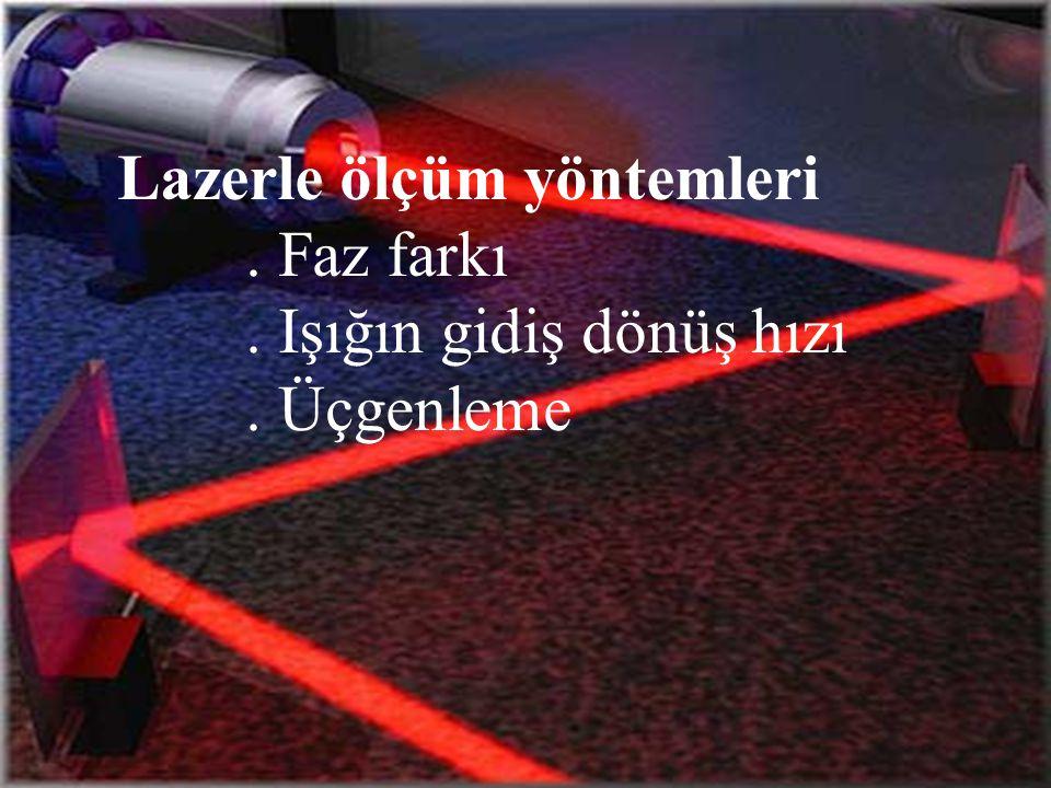 Lazerle ölçüm yöntemleri