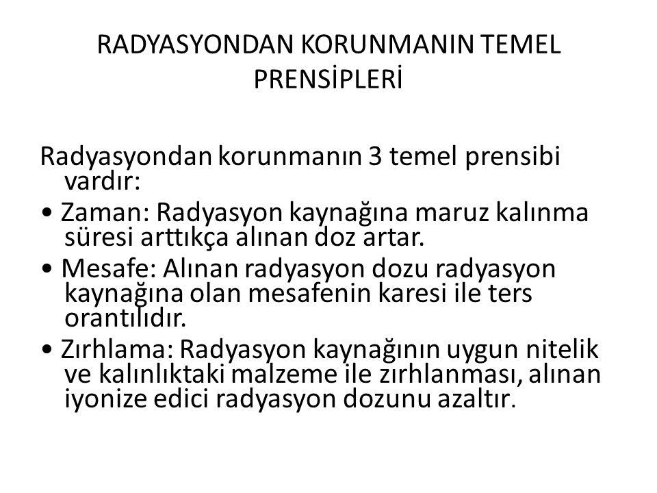 RADYASYONDAN KORUNMANIN TEMEL PRENSİPLERİ