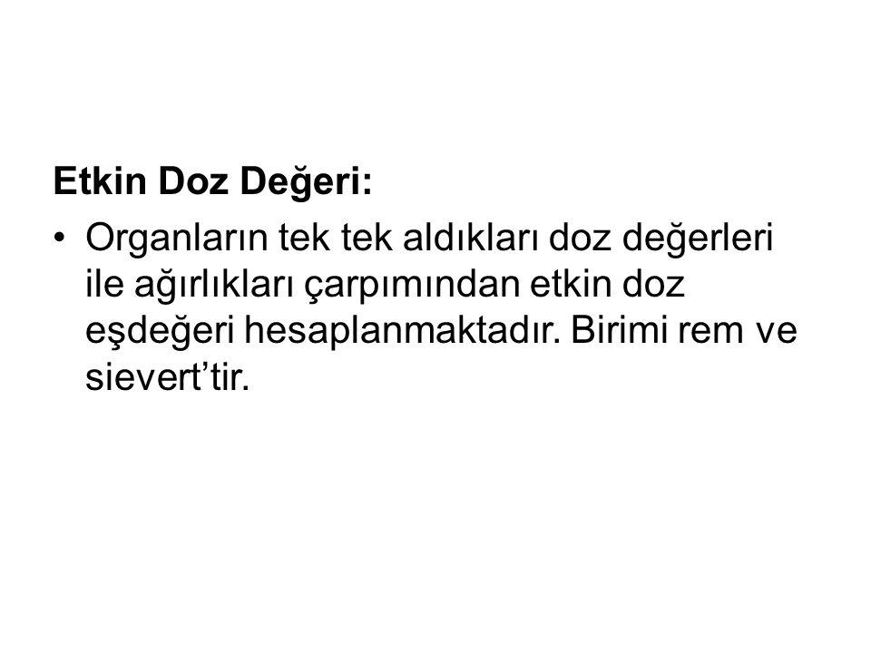 Etkin Doz Değeri: