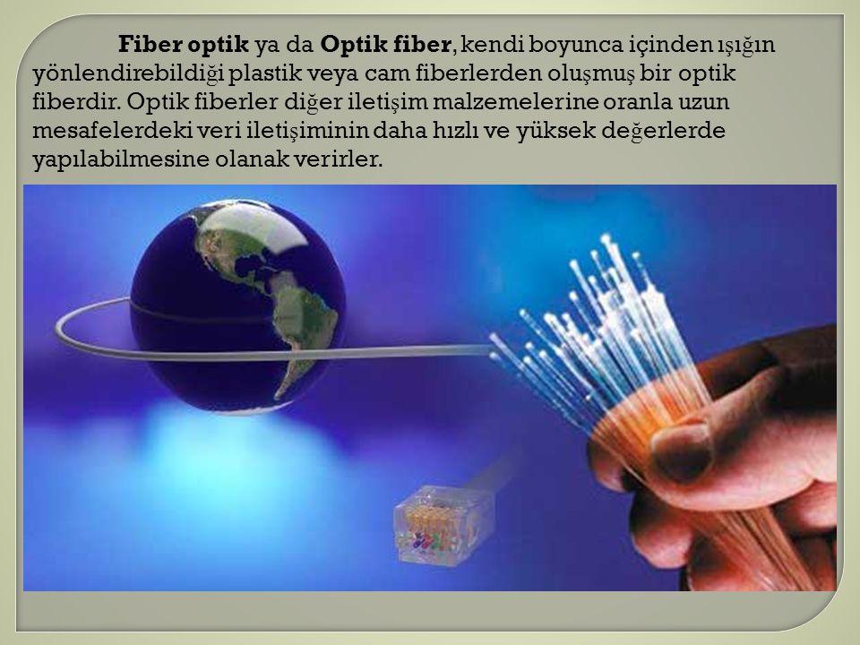 Fiber optik ya da Optik fiber, kendi boyunca içinden ışığın yönlendirebildiği plastik veya cam fiberlerden oluşmuş bir optik fiberdir.