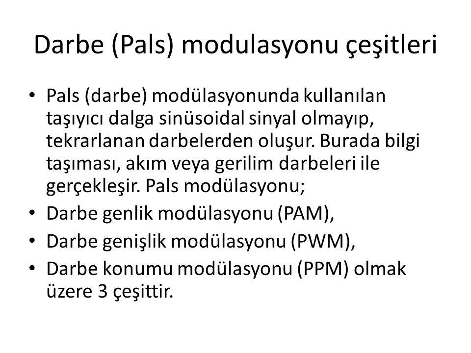 Darbe (Pals) modulasyonu çeşitleri