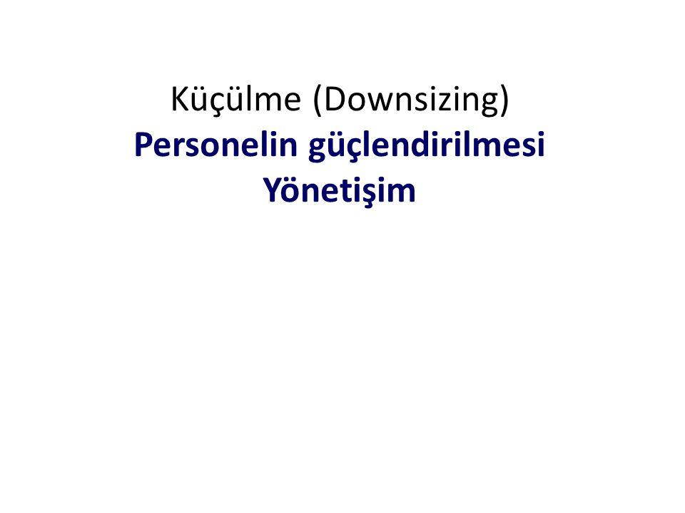 Küçülme (Downsizing) Personelin güçlendirilmesi Yönetişim