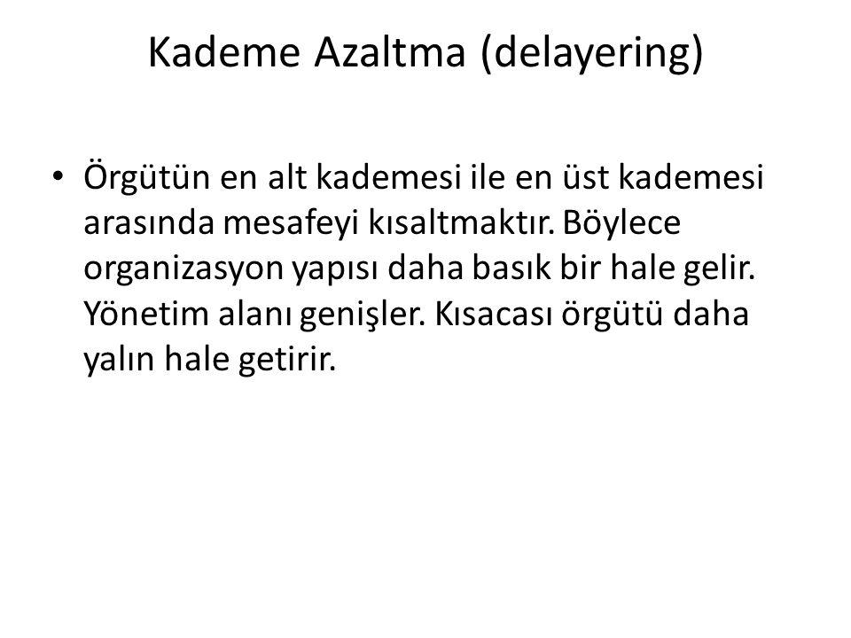 Kademe Azaltma (delayering)