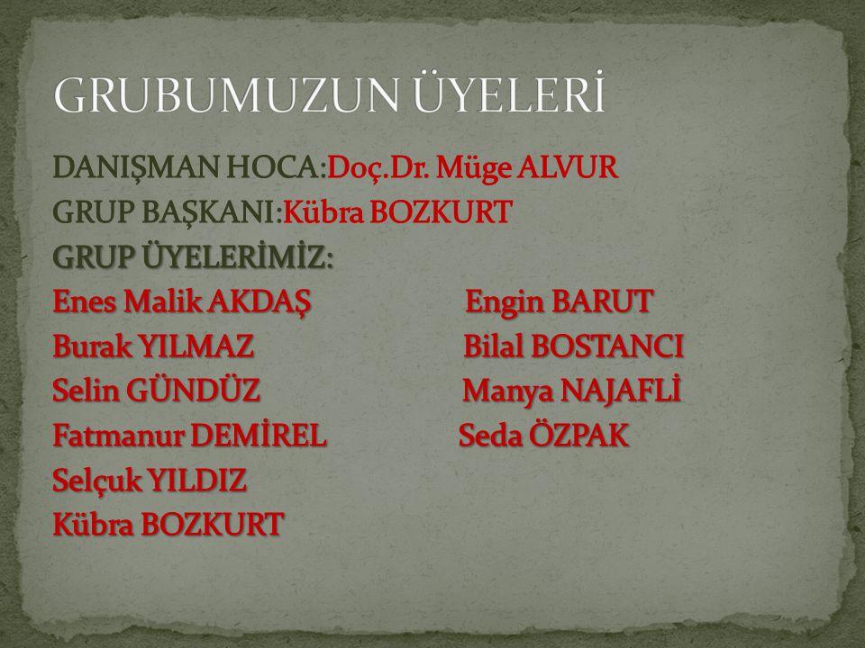 GRUBUMUZUN ÜYELERİ