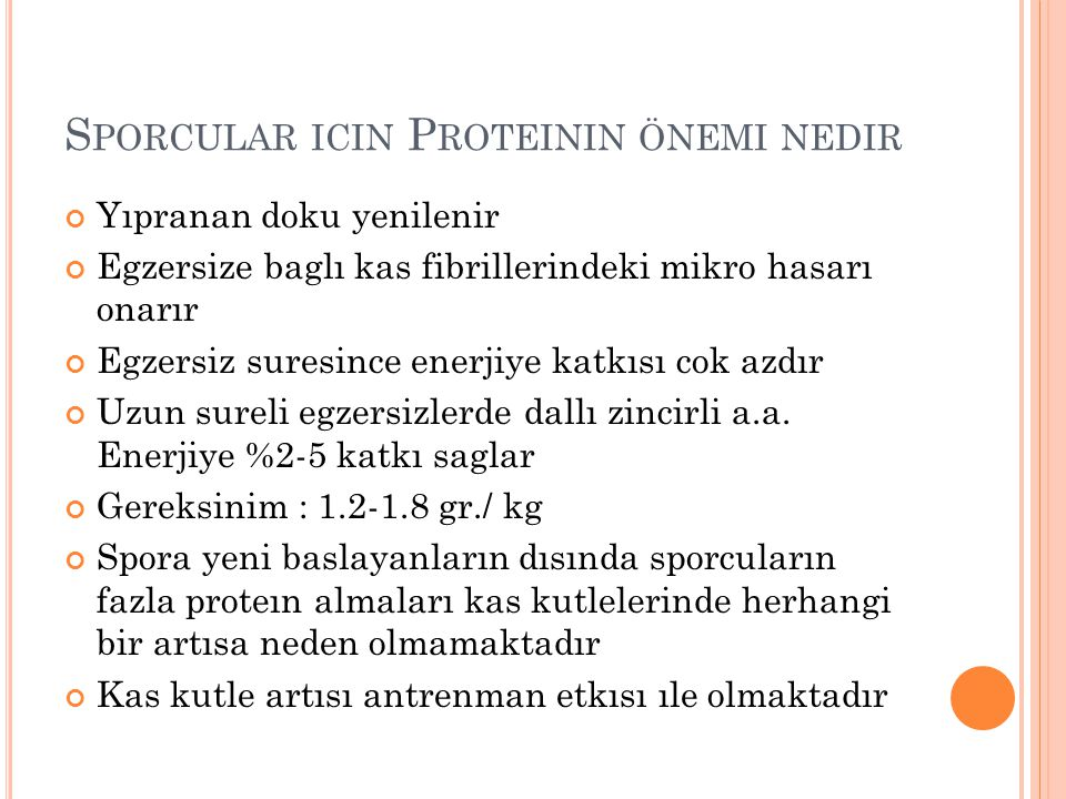Sporcular icin Proteinin önemi nedir