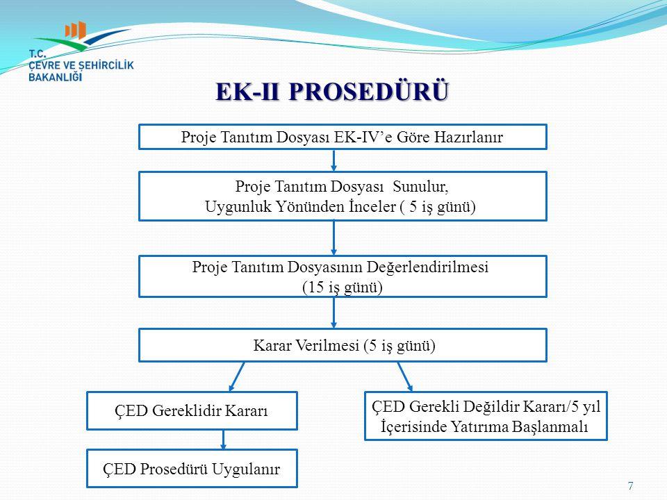 EK-II PROSEDÜRÜ Proje Tanıtım Dosyası EK-IV'e Göre Hazırlanır