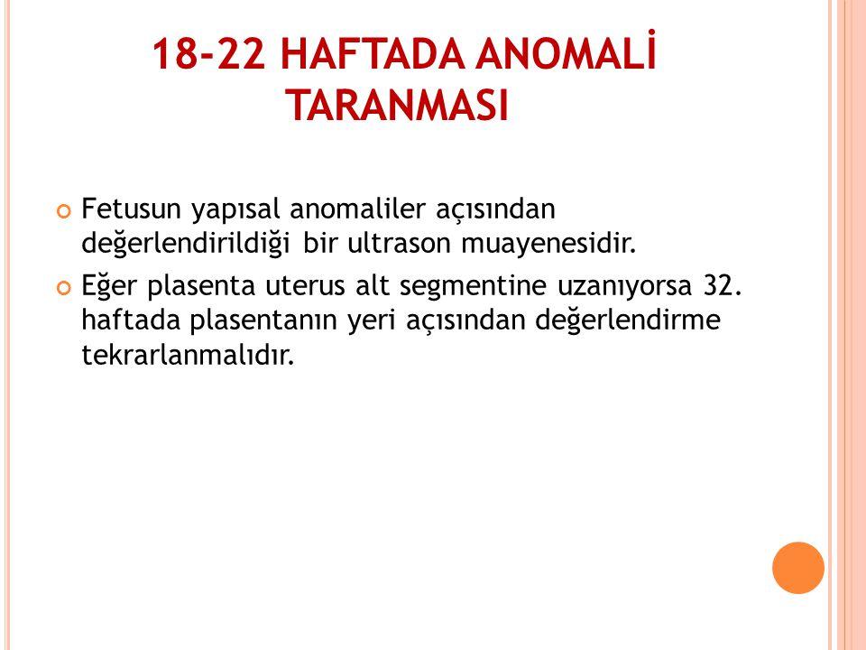 18-22 HAFTADA ANOMALİ TARANMASI