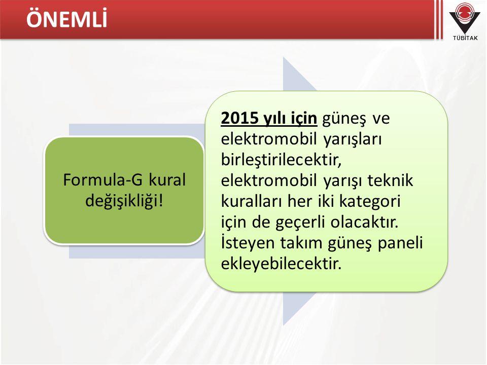 Formula-G kural değişikliği!