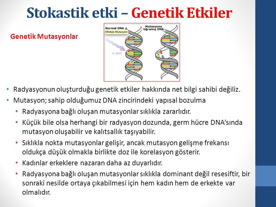 Stokastik etki – Genetik Etkiler