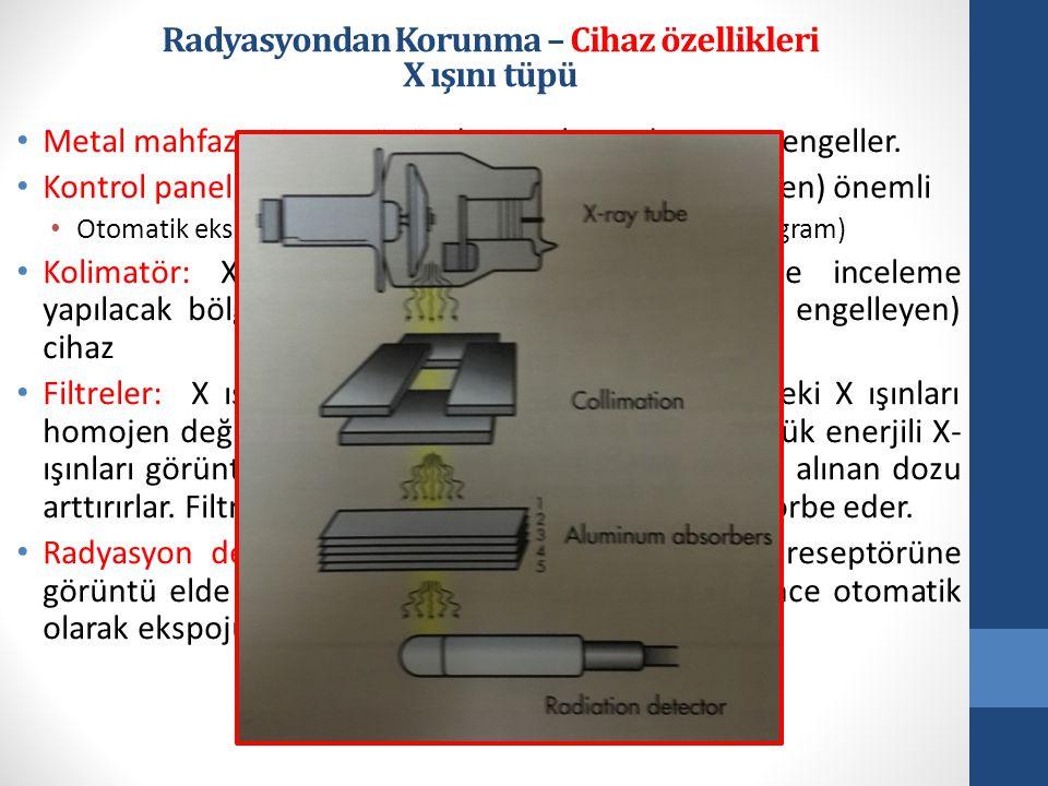 Radyasyondan Korunma – Cihaz özellikleri