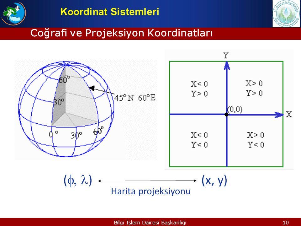 Coğrafi ve Projeksiyon Koordinatları