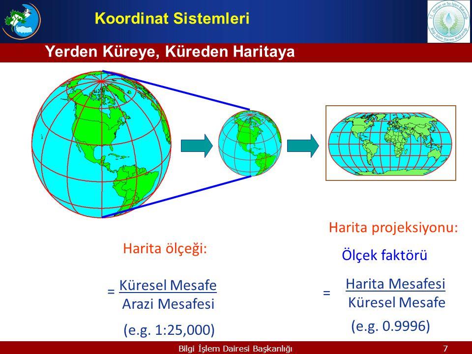 Yerden Küreye, Küreden Haritaya