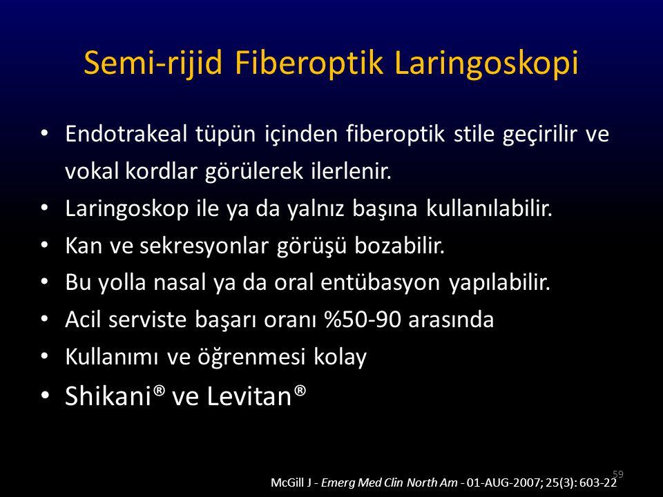 Semi-rijid Fiberoptik Laringoskopi