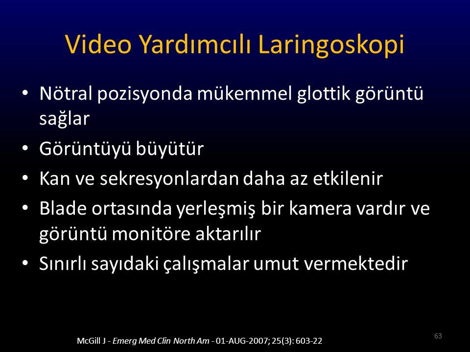 Video Yardımcılı Laringoskopi