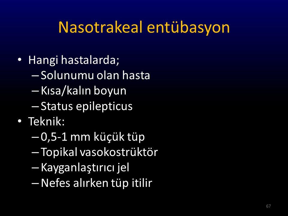 Nasotrakeal entübasyon