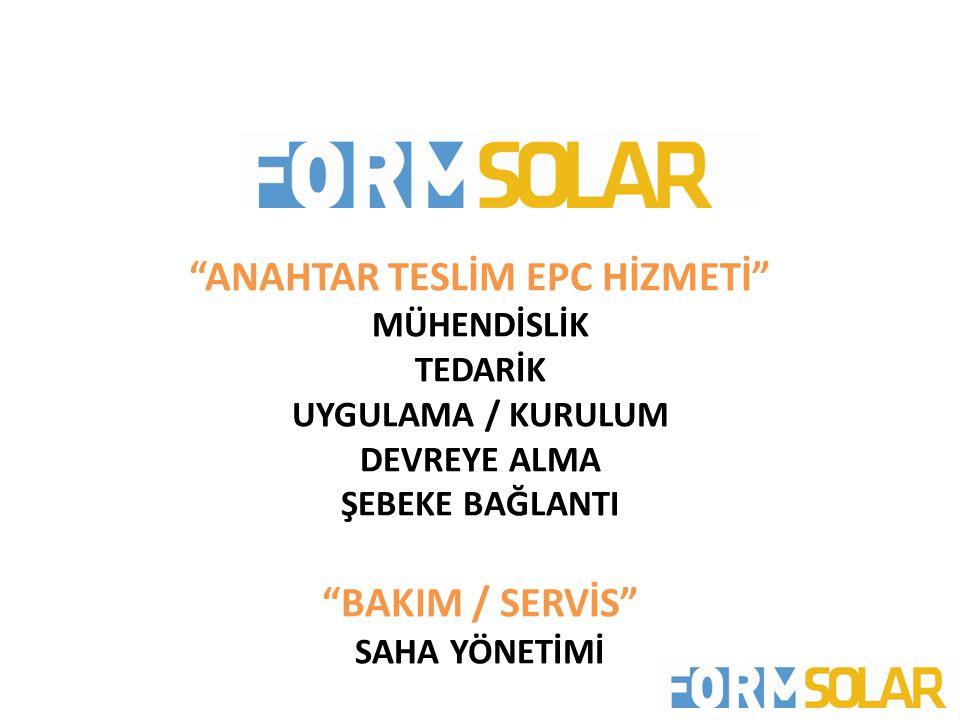 ANAHTAR TESLİM EPC HİZMETİ