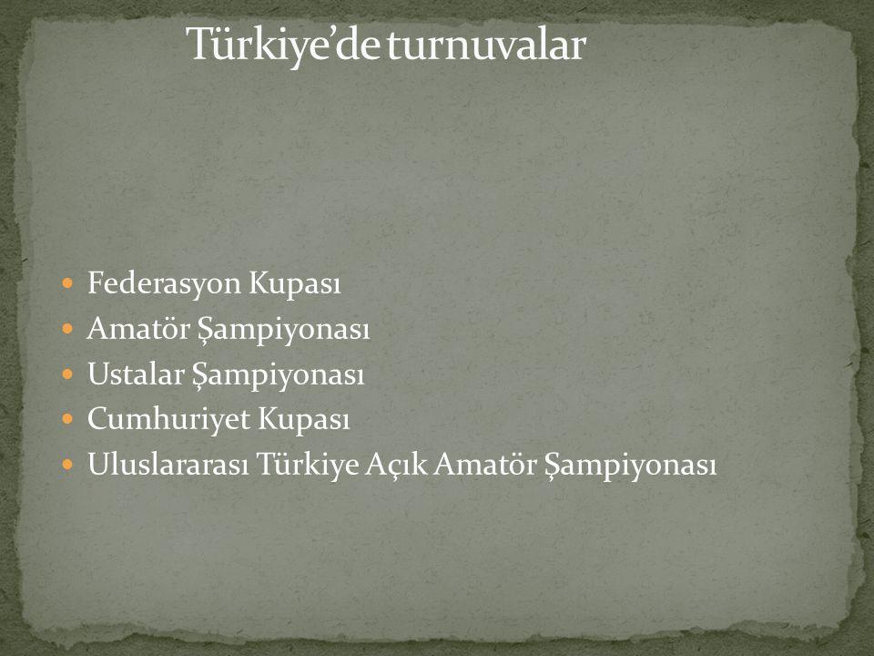 Türkiye'de turnuvalar