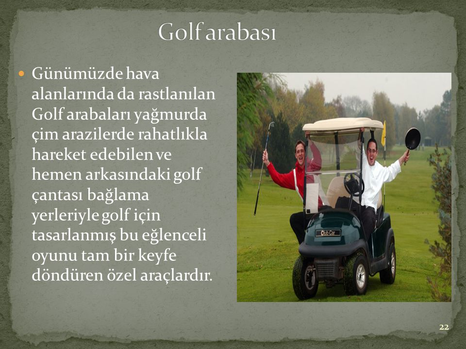 Golf arabası
