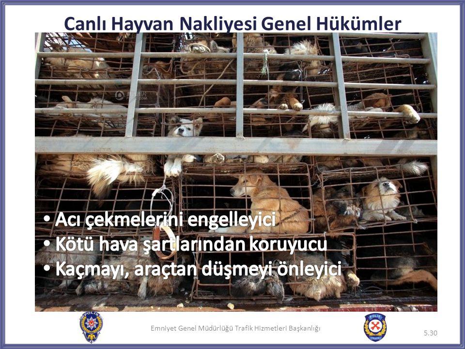 Canlı Hayvan Nakliyesi Genel Hükümler