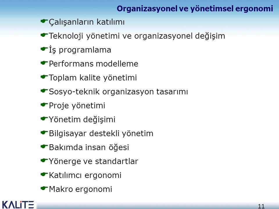 Organizasyonel ve yönetimsel ergonomi