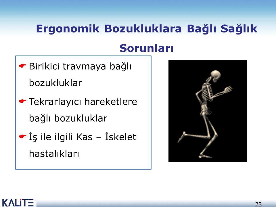Ergonomik Bozukluklara Bağlı Sağlık Sorunları