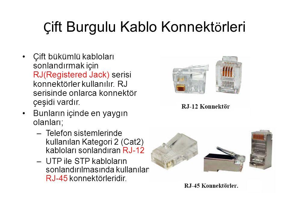 Çift Burgulu Kablo Konnektörleri