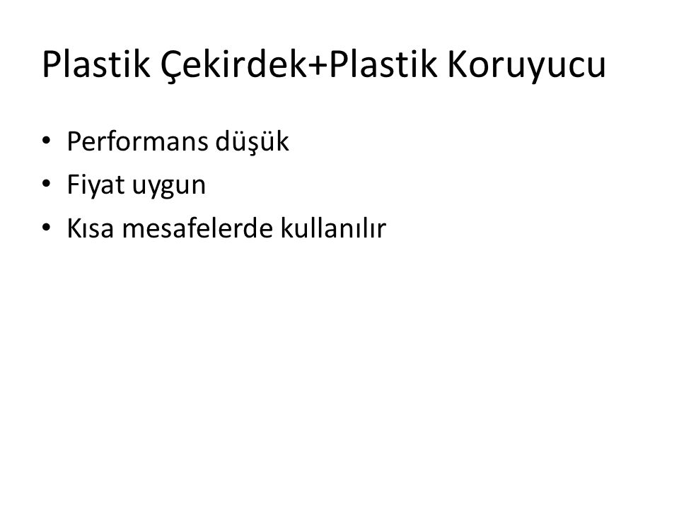 Plastik Çekirdek+Plastik Koruyucu