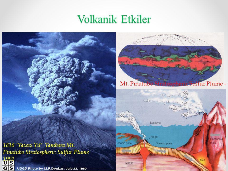 Volkanik Etkiler Mt. Pinatubo Stratospheric Sulfur Plume - 1991