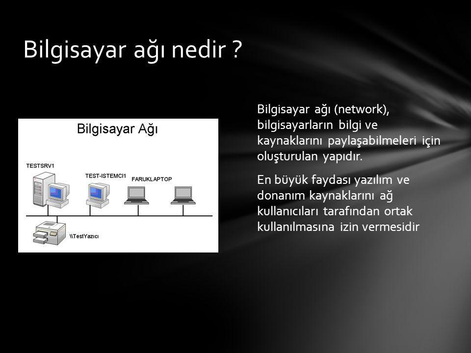 Bilgisayar ağı nedir