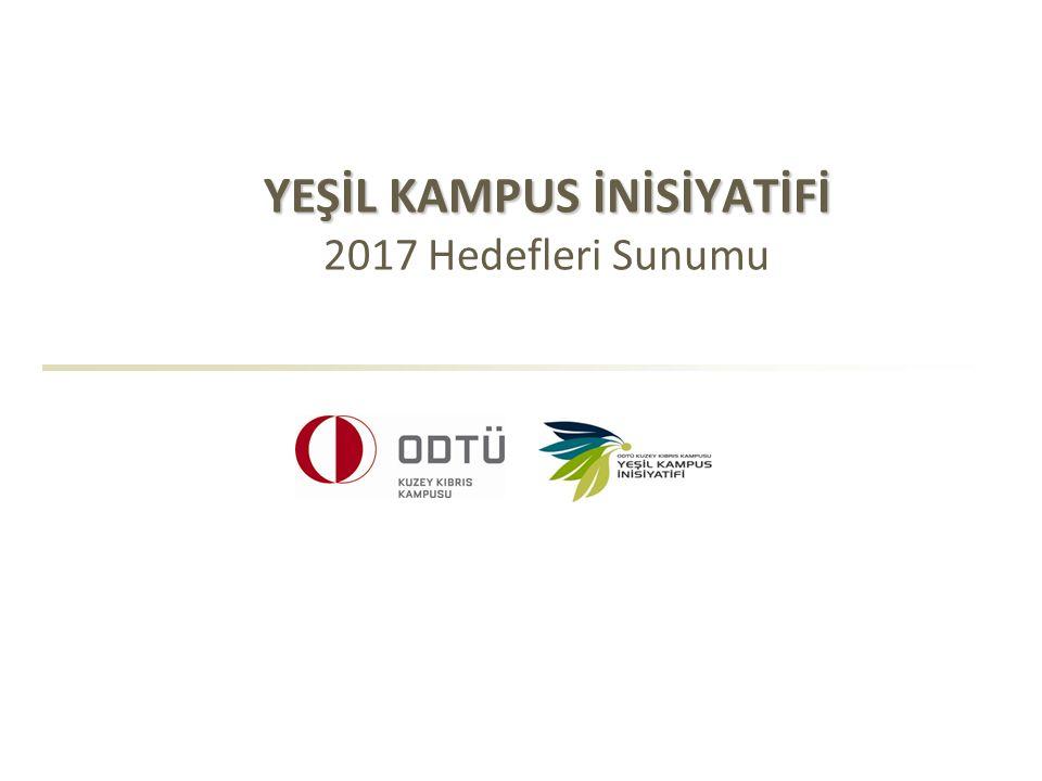 YEŞİL KAMPUS İNİSİYATİFİ 2017 Hedefleri Sunumu