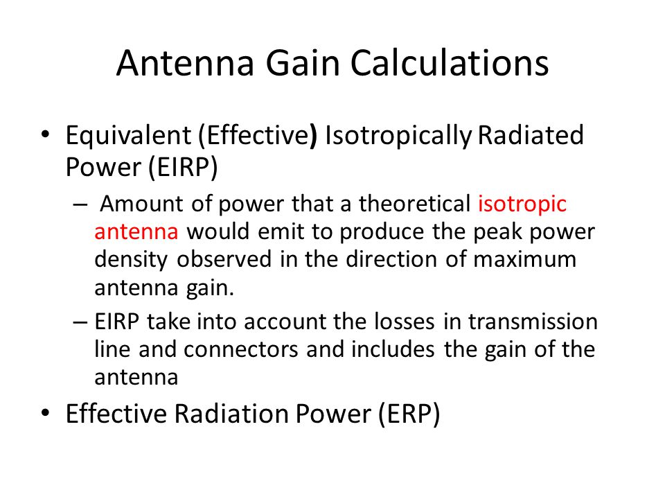 Antenna Gain Calculations