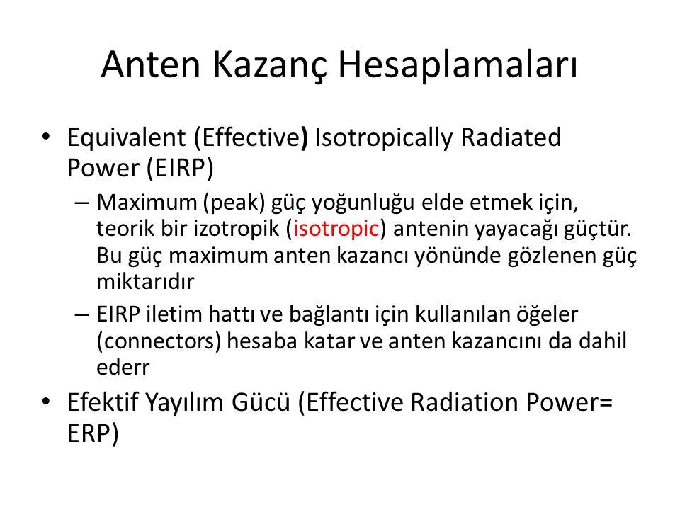 Anten Kazanç Hesaplamaları