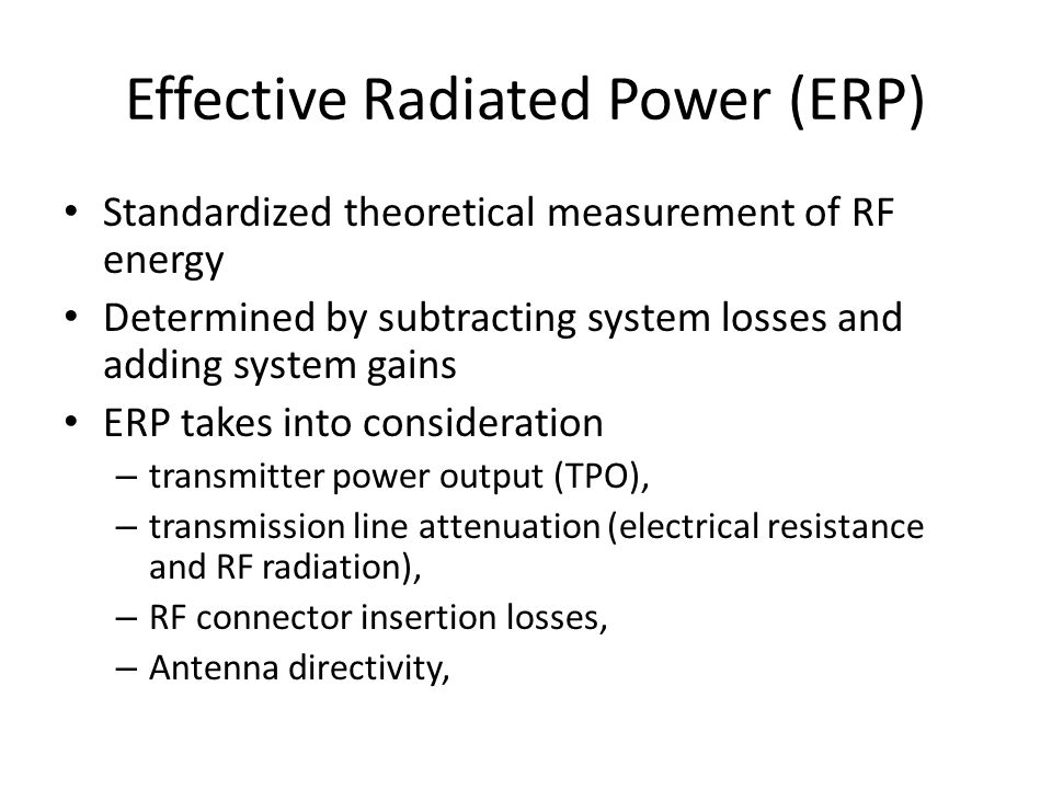 Effective Radiated Power (ERP)