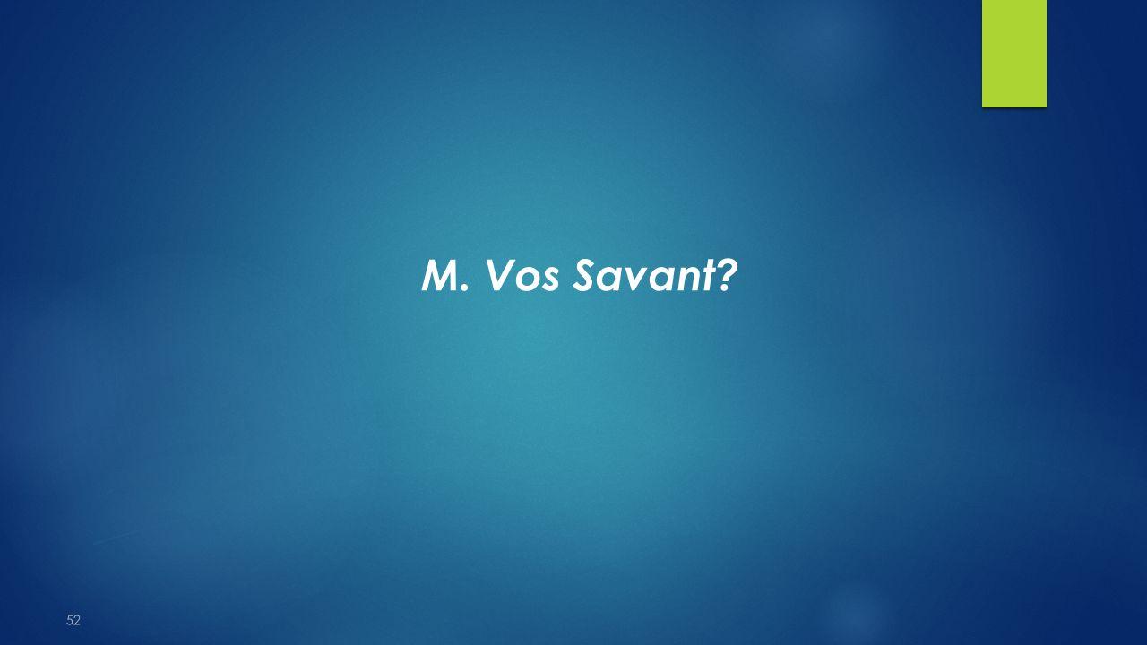 M. Vos Savant 52