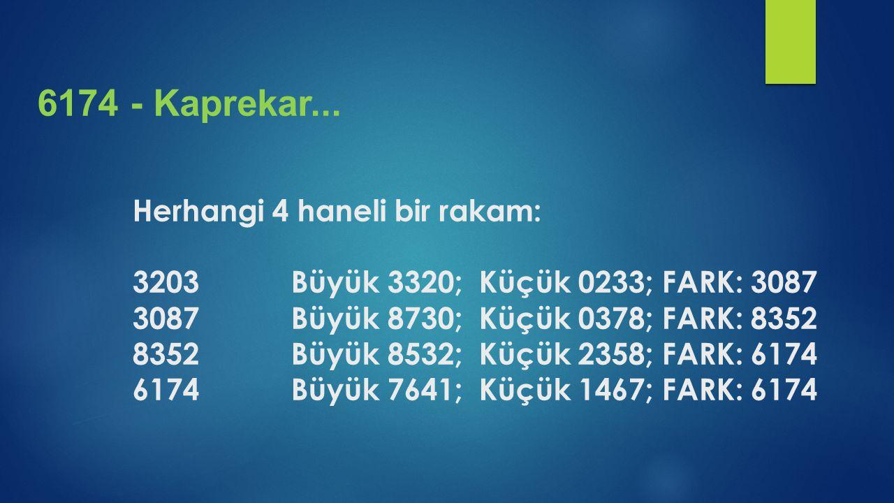 6174 - Kaprekar...