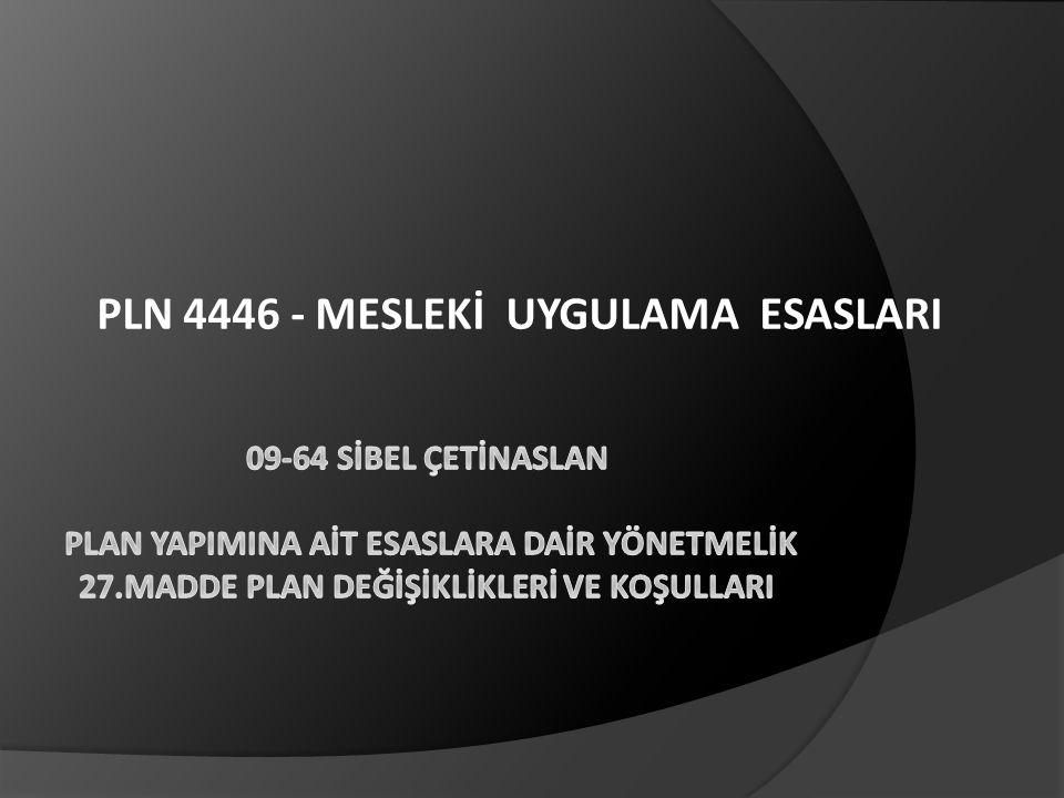 PLN 4446 - MESLEKİ UYGULAMA ESASLARI