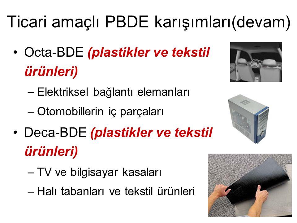 Ticari amaçlı PBDE karışımları(devam)