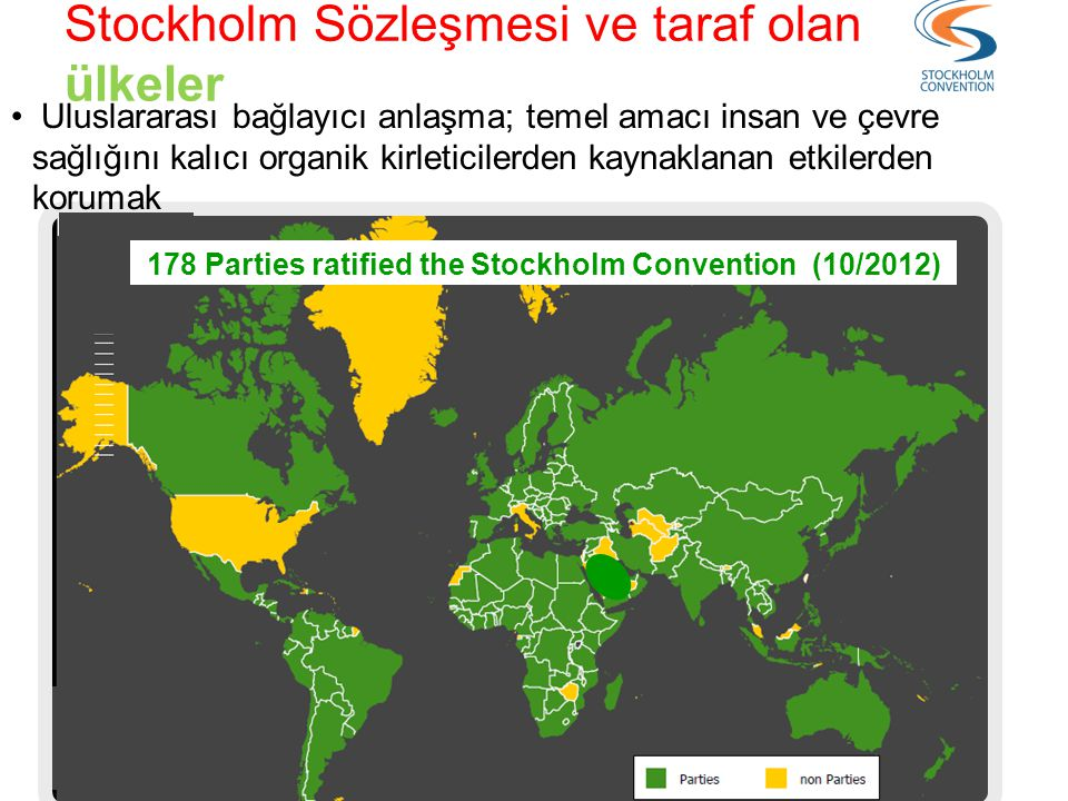 178 Parties ratified the Stockholm Convention (10/2012)
