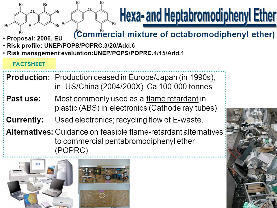 Hexa- and Heptabromodiphenyl Ether