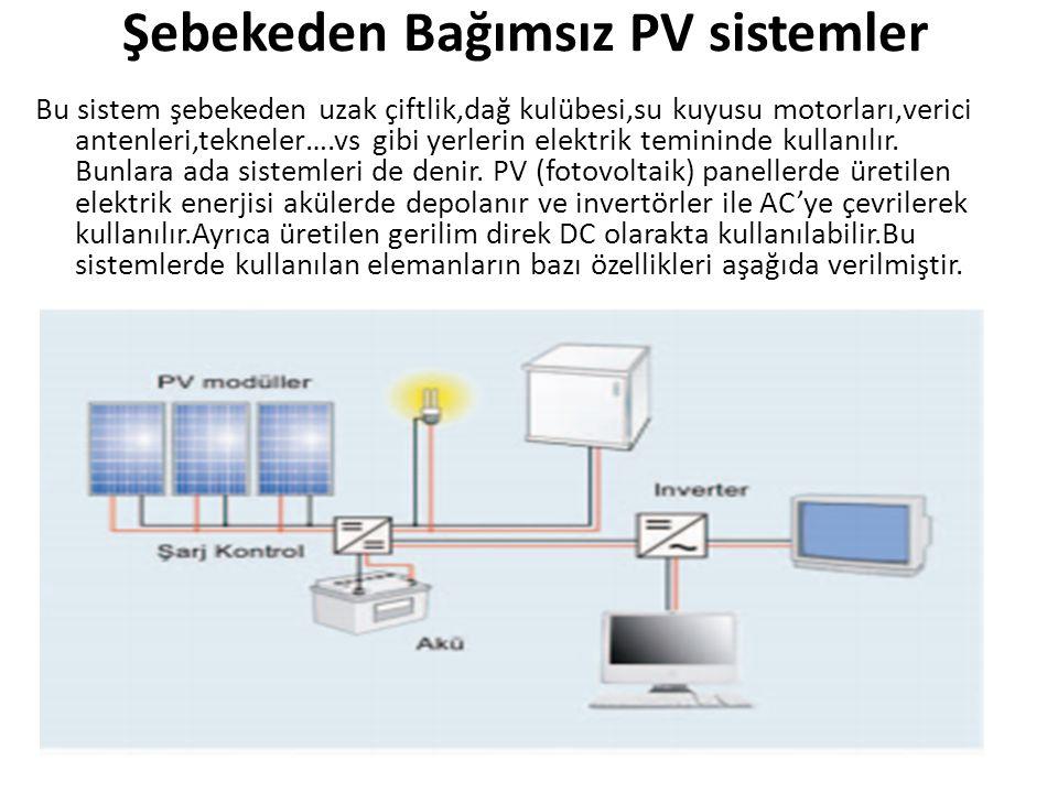 Şebekeden Bağımsız PV sistemler