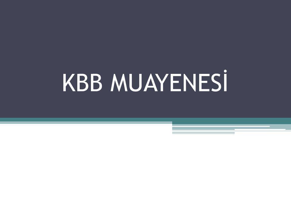 KBB MUAYENESİ