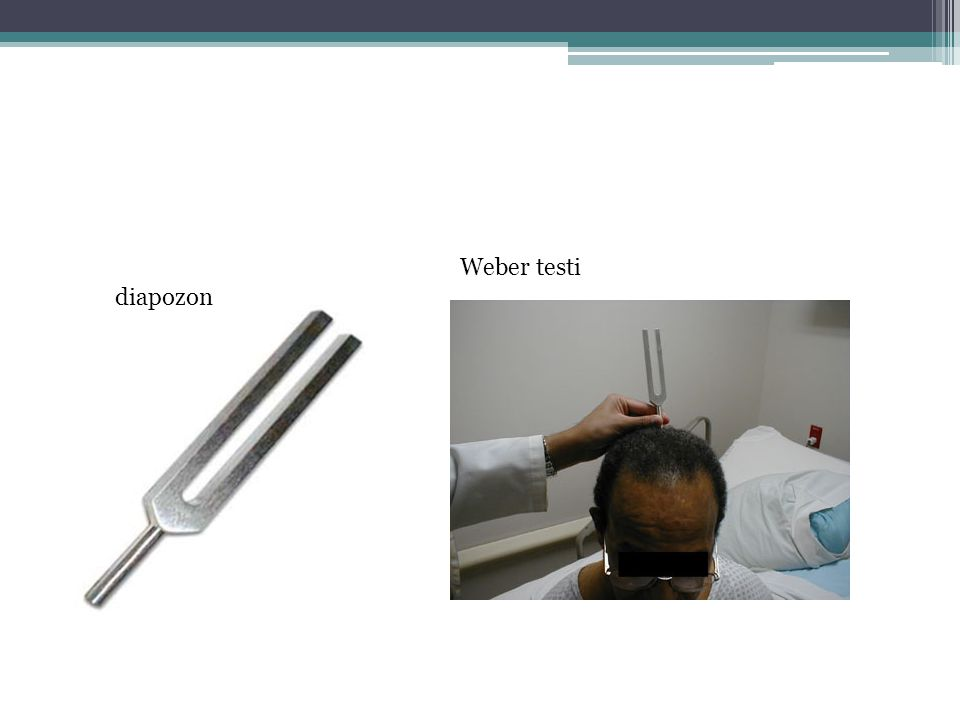 Weber testi diapozon
